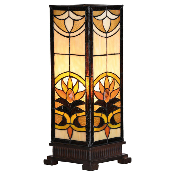 Tiffany Square Table Lamps - Aintree Large Square Tiffany Lamp