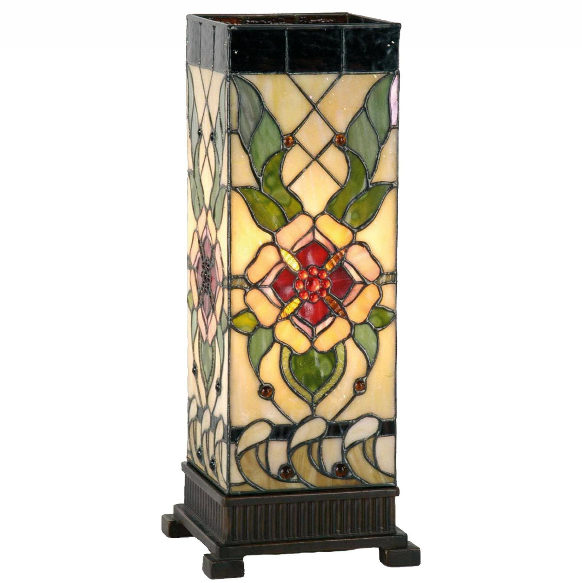 Tiffany Square Table Lamps - Angelique Large Square Tiffany Table Lamp