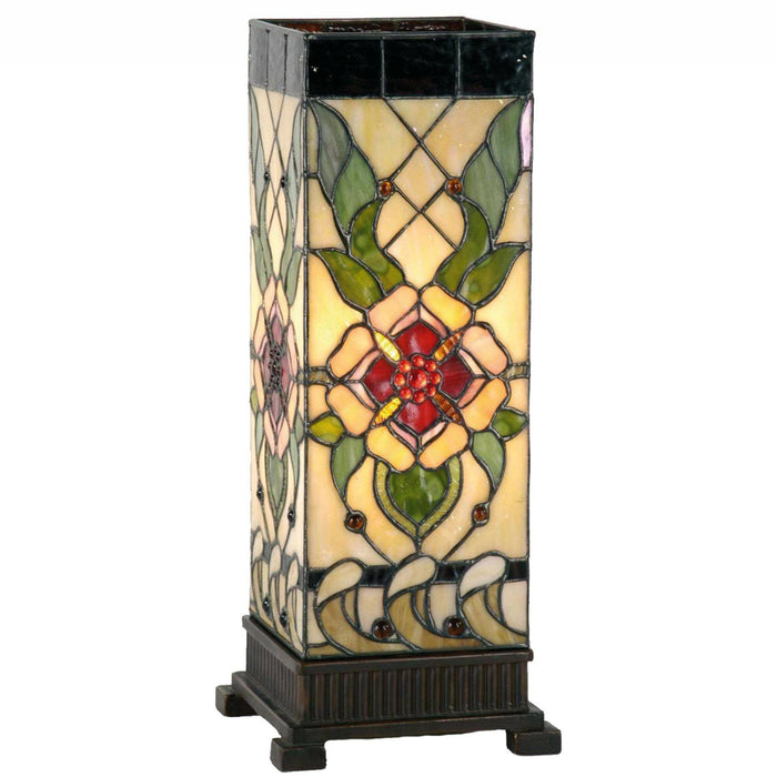 Angelique Large Square Tiffany Table Lamp 5LL-9226