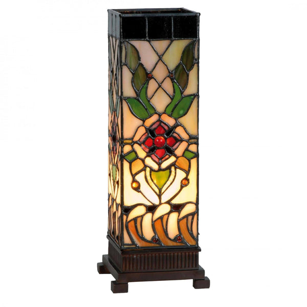 Tiffany Square Table Lamps - Angelique Medium Square Tiffany Table Lamp