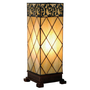 Tiffany Square Table Lamps - Cambridge Tiffany Large Square Table Lamp