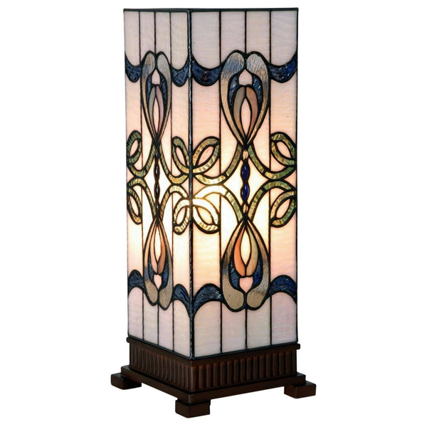 Tiffany Square Table Lamps - Clara Tiffany Large Square Table Lamp