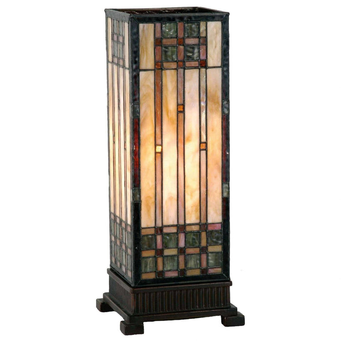 Empire Tiffany Large Square Table Lamp 9221