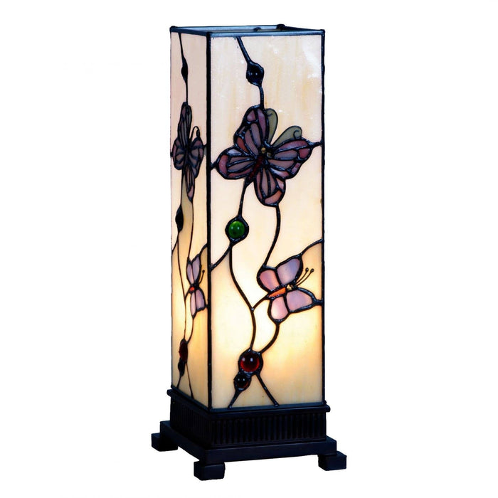 London Medium Tiffany Square Table Lamp 5LL-9301