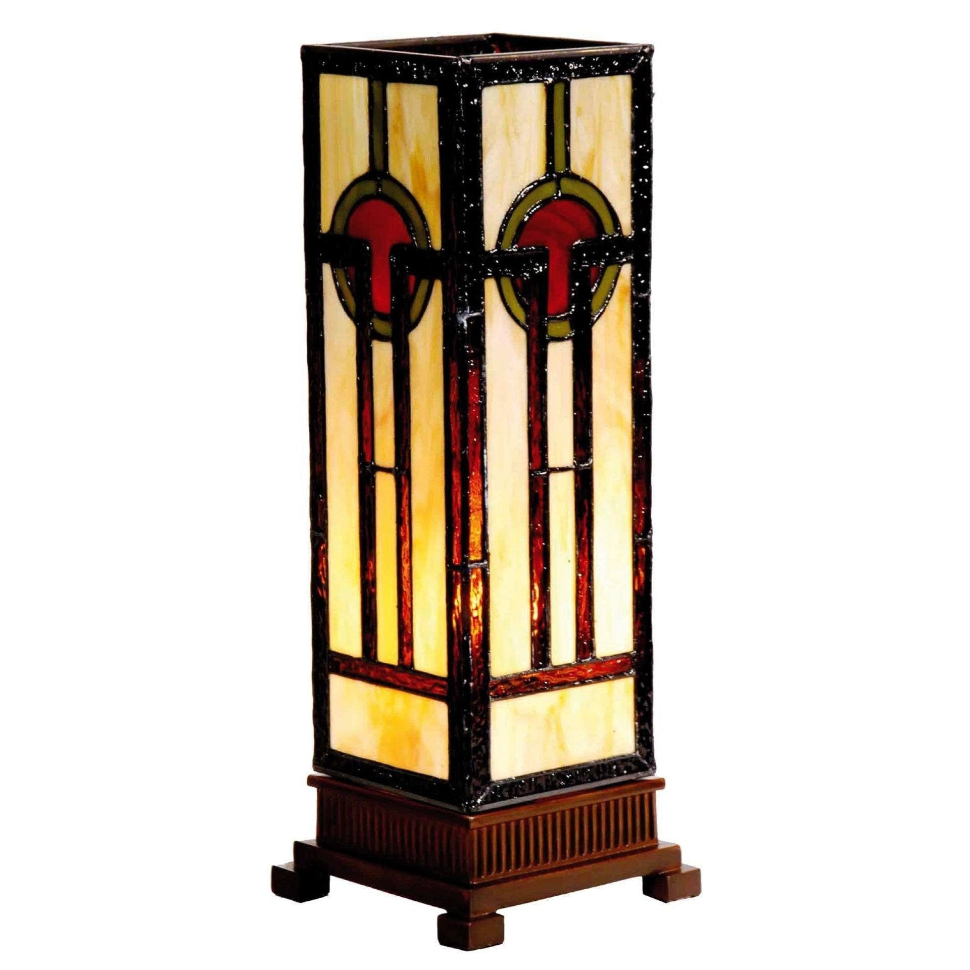 Tiffany Square Table Lamps - Oxford Tiffany Medium Square Table Lamp