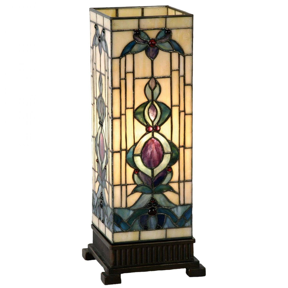 Tiffany Square Table Lamps - Regency Tiffany Large Square Table Lamp
