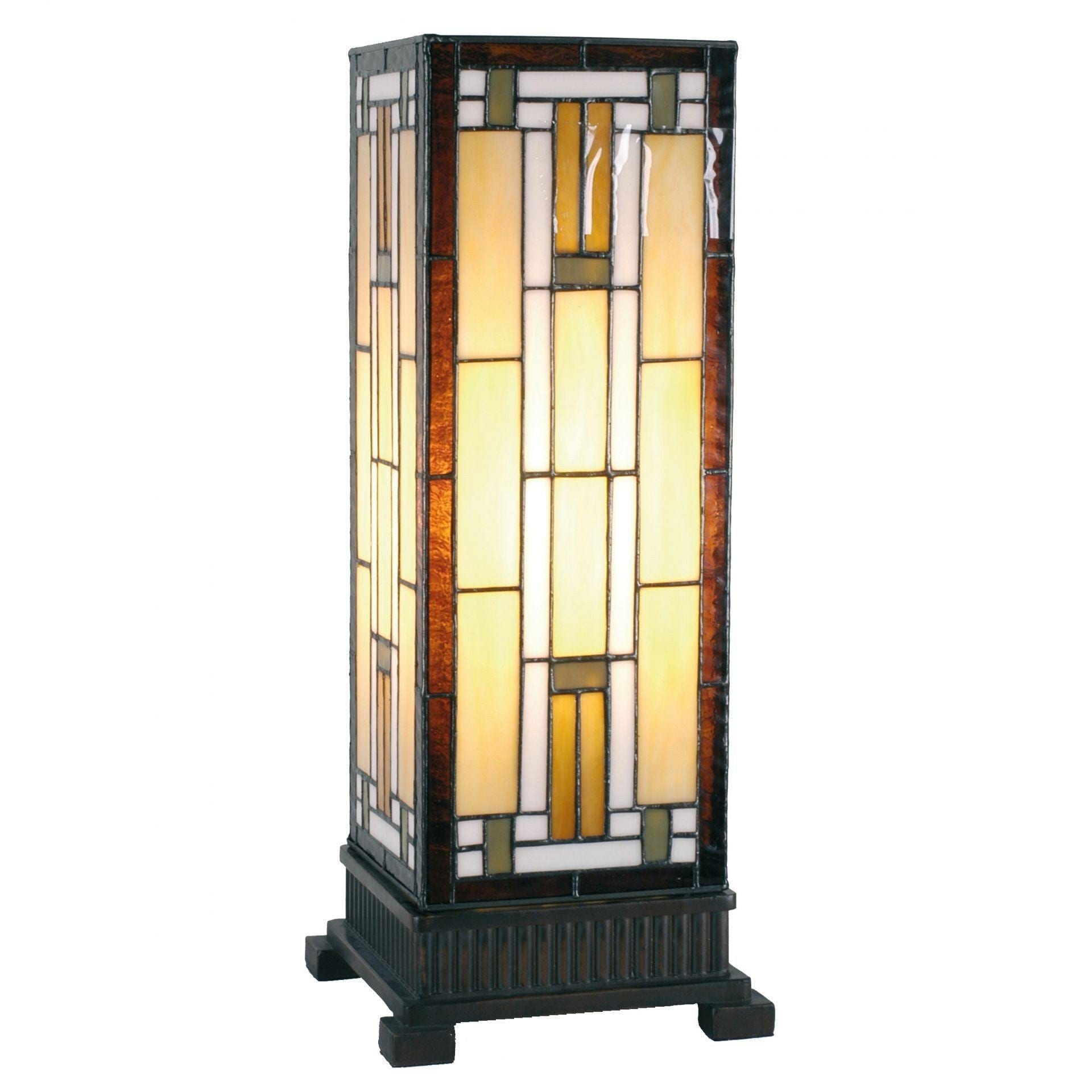 Tiffany Square Table Lamps - Richmond Tiffany Large Square Table Lamp