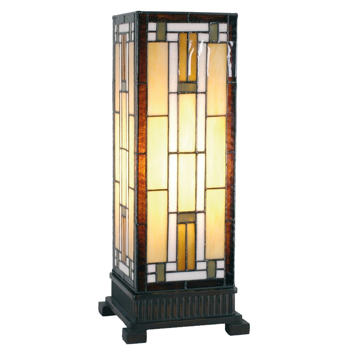 Richmond Tiffany Medium Square Table Lamp 5LL-9332