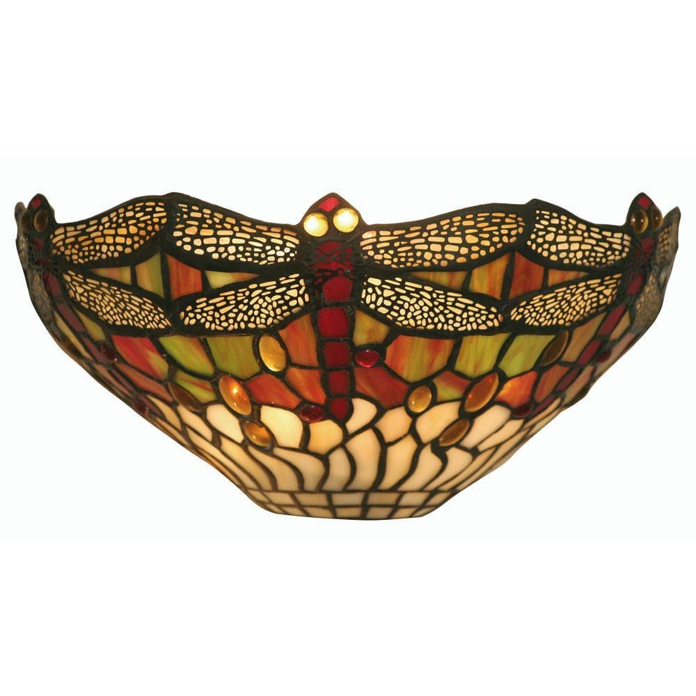 Tiffany Wall Lights - Oaks Tiffany Dragonfly Wall Light OT 1485 WB