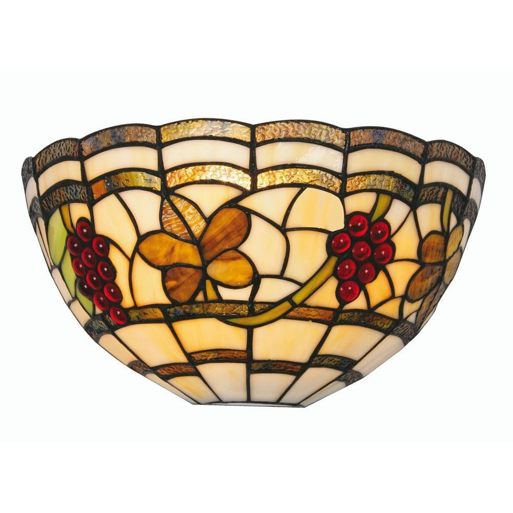 Tiffany Wall Lights - Oaks Tiffany Grapes Wall Light OT 6018 WB