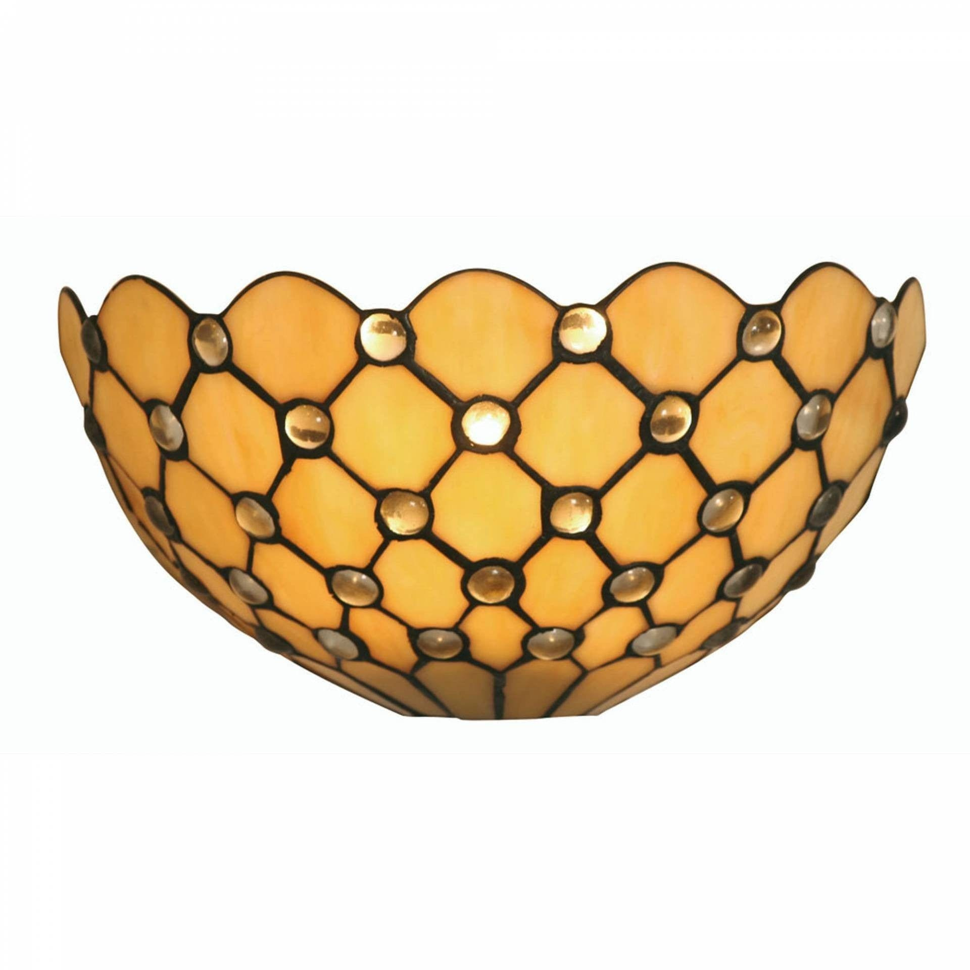 Tiffany Wall Lights - Oaks Tiffany Jewel Wall Light