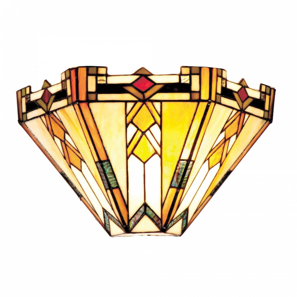 Tiffany Wall Lights - Prairie Traditional Tiffany Wall Light