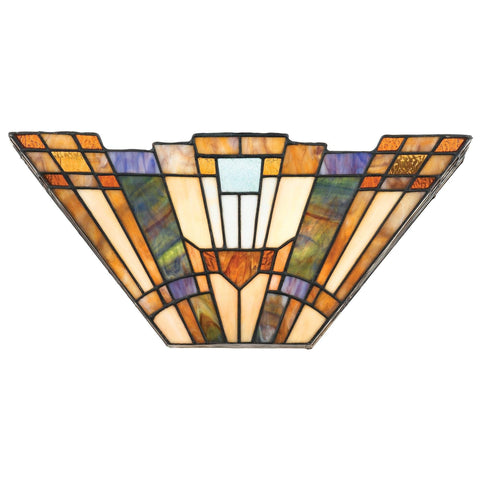 Tiffany Wall Lights - Quoizel Tiffany Inglenook Wall Lamp QZ/INGLENOOK/WU