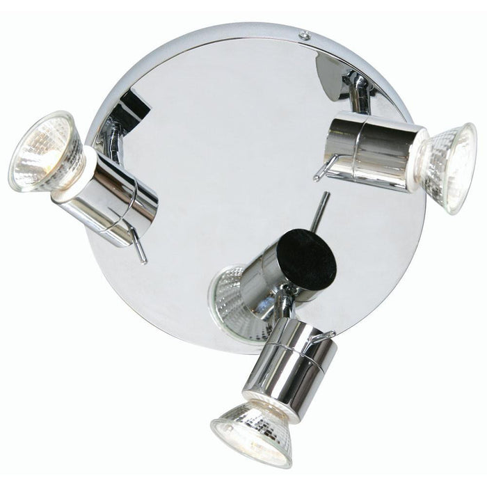Asah Chrome Finish 3 Light Bathroom Ceiling Spotlight 7953 F CH