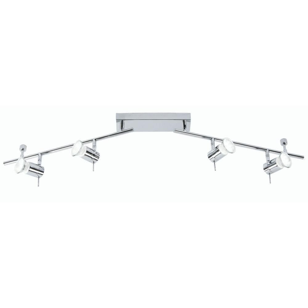 Traditional Bathroom Lights - Asah Chrome Finish 4 Light Bathroom Ceiling Spotlight 7954 B CH