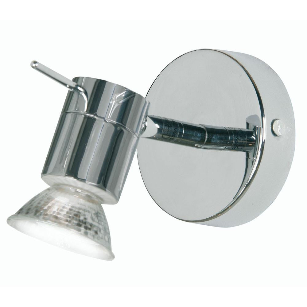 Traditional Bathroom Lights - Asah Chrome Finish Single Bathroom Ceiling Spotlight 7951 CH