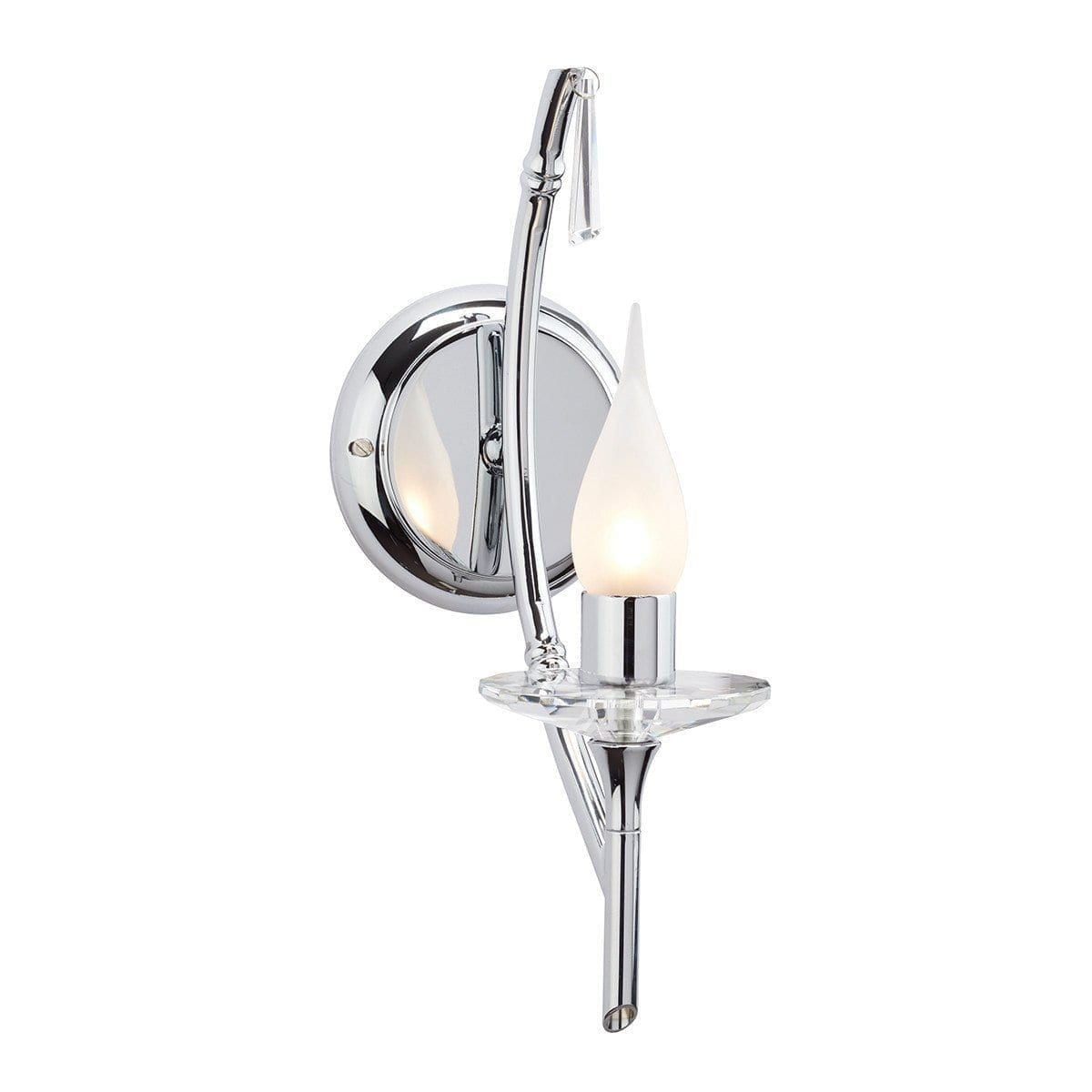 Traditional Bathroom Lights - Brightwell Polished Chrome Finish Bathroom Wall Light BATH/BR2 CHROME