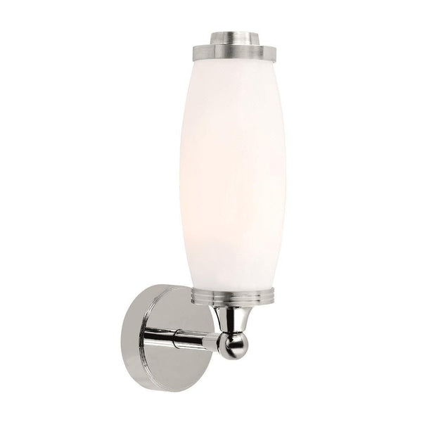 Traditional Bathroom Lights - Eliot Polished Chrome Finish Solid Brass Bathroom Wall Light BATH/ELIOT1 PC