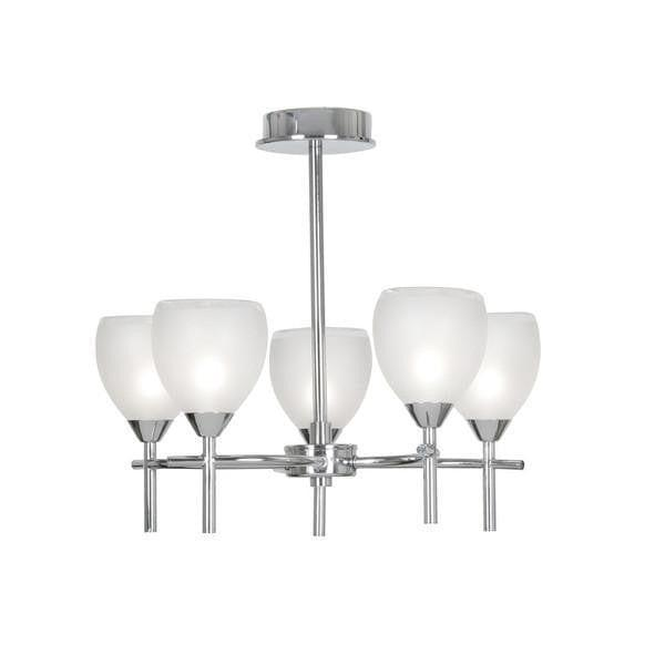 Traditional Bathroom Lights - Etta Chrome Finish Semi Flush 5 Light Bathroom Ceiling Light 1693/5 CH