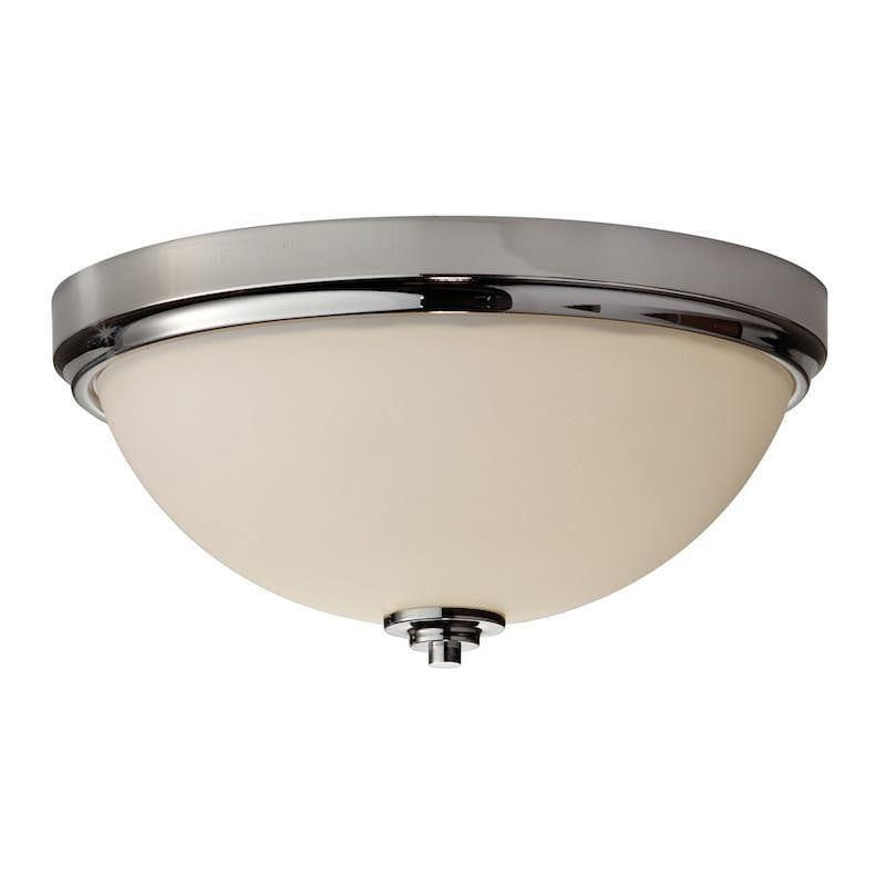 Traditional Bathroom Lights - Feiss Malibu Polished Nickel Flush Bathroom Ceiling Light FE/MALIBU/F BATH