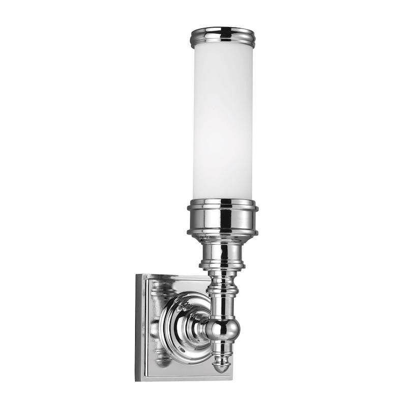 Traditional Bathroom Lights - Feiss Payne Ornate Polished Chrome Finish Bathroom Wall Light FE/PAYN-OR1 BATH