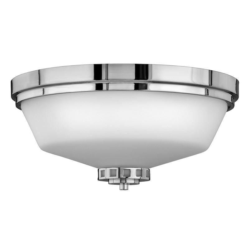 Traditional Bathroom Lights - Hinkley Ashley Flush Polished Chrome Finish Bathroom Ceiling Light HK/ASHLEY/F BATH