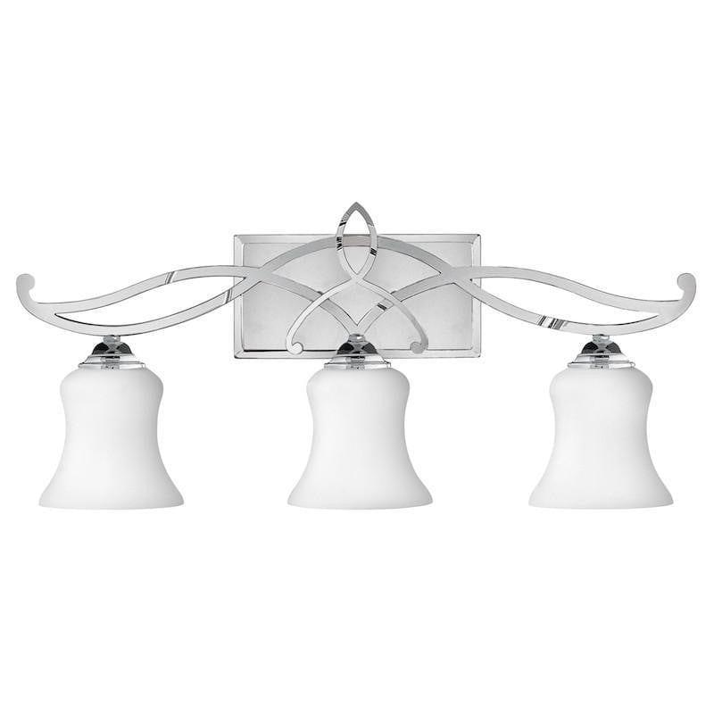 Traditional Bathroom Lights - Hinkley Brooke Polished Chrome Finish 3 Light Bathroom Above Mirror Light HK/BROOKE3 BATH