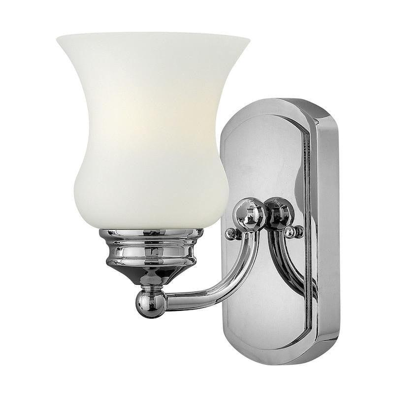 Traditional Bathroom Lights - Hinkley Constance Polished Chrome Finish Bathroom Wall Light HK/CONSTANCE1 BATH