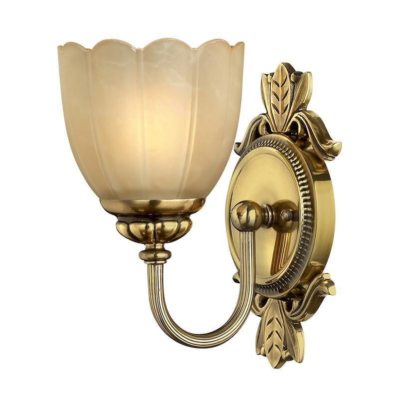 Traditional Bathroom Lights - Hinkley Isabella Burnished Brass Finish Solid Brass Bathroom Wall Light HK/ISABELA1 BATH