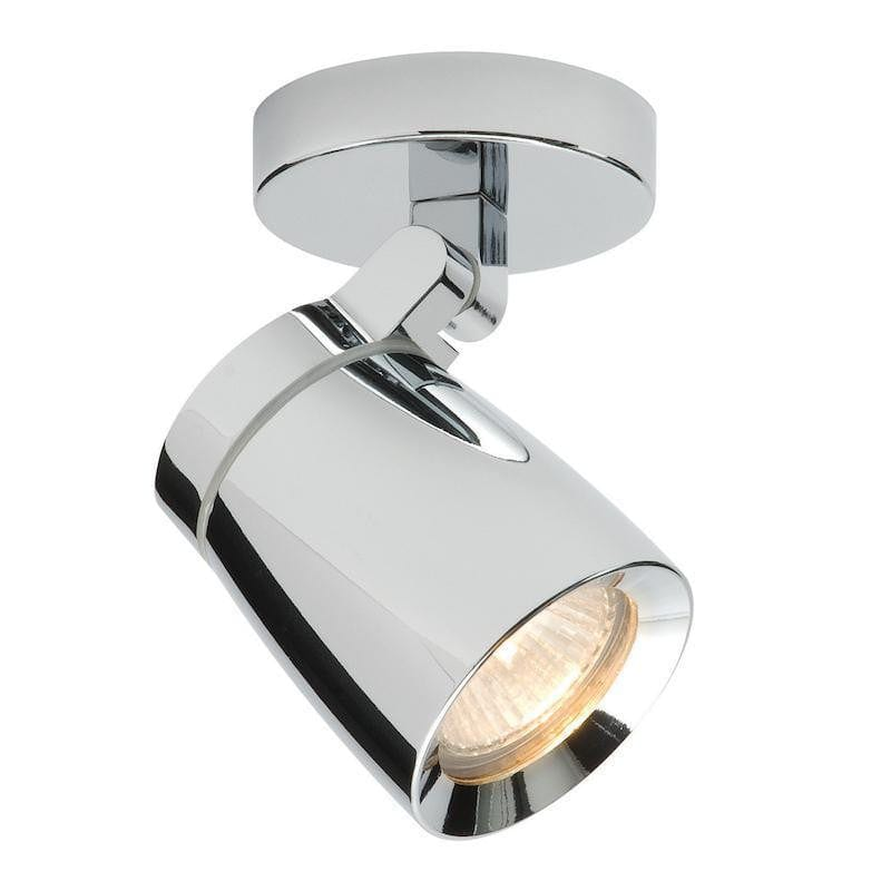 Traditional Bathroom Lights - Knight Chrome Finish And Clear Glass Bathroom Spotlight 39166