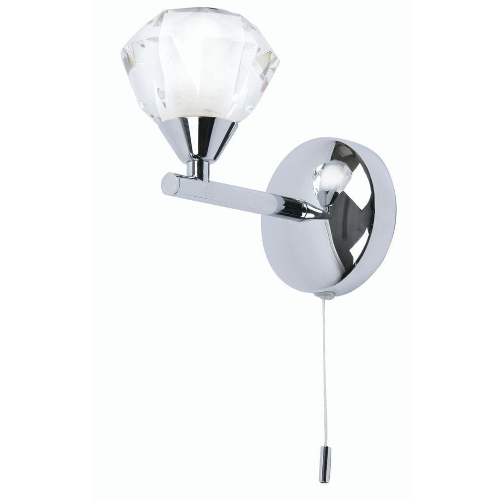 Traditional Bathroom Lights - Meissa Chrome Finish Bathroom Wall Light 7933/1 CH