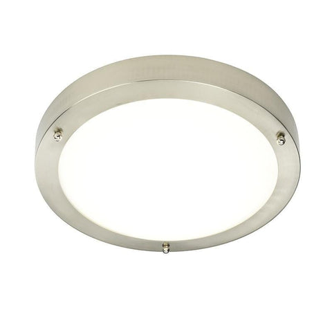 led bathroom lights. Portico Satin Nickel Finish And Frosted Glass Flush LED Bathroom Ceiling Light 54675 Led Lights
