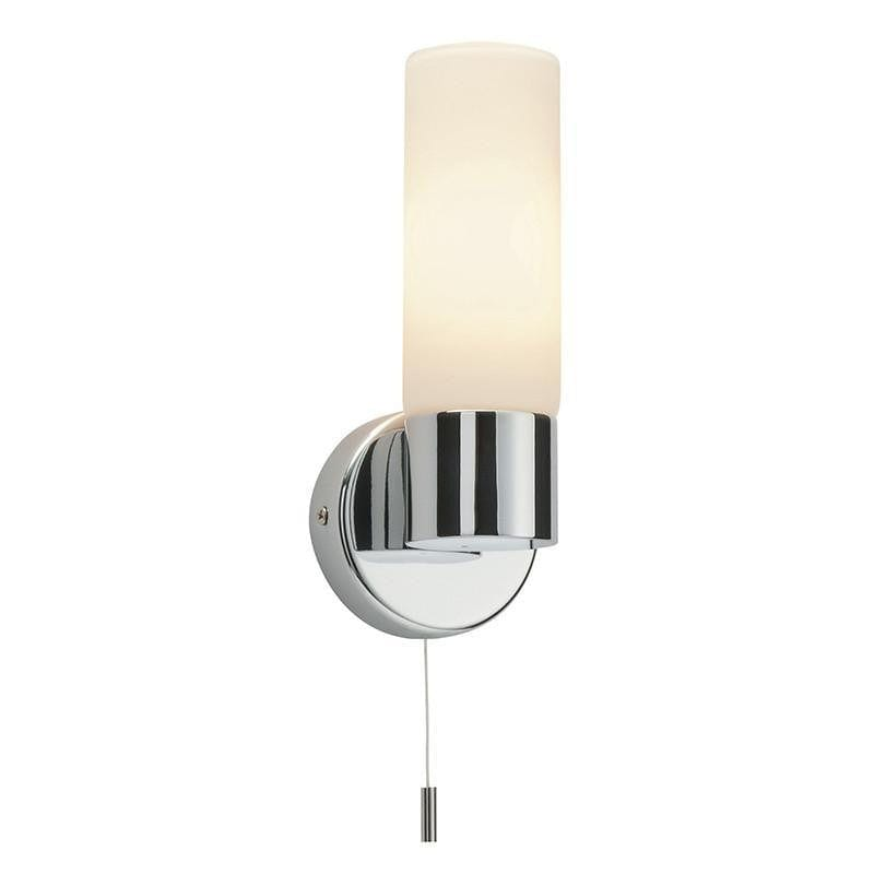 Traditional Bathroom Lights - Pure Chrome Finish And Matt Opal Duplex Glass Bathroom Wall Light 34483