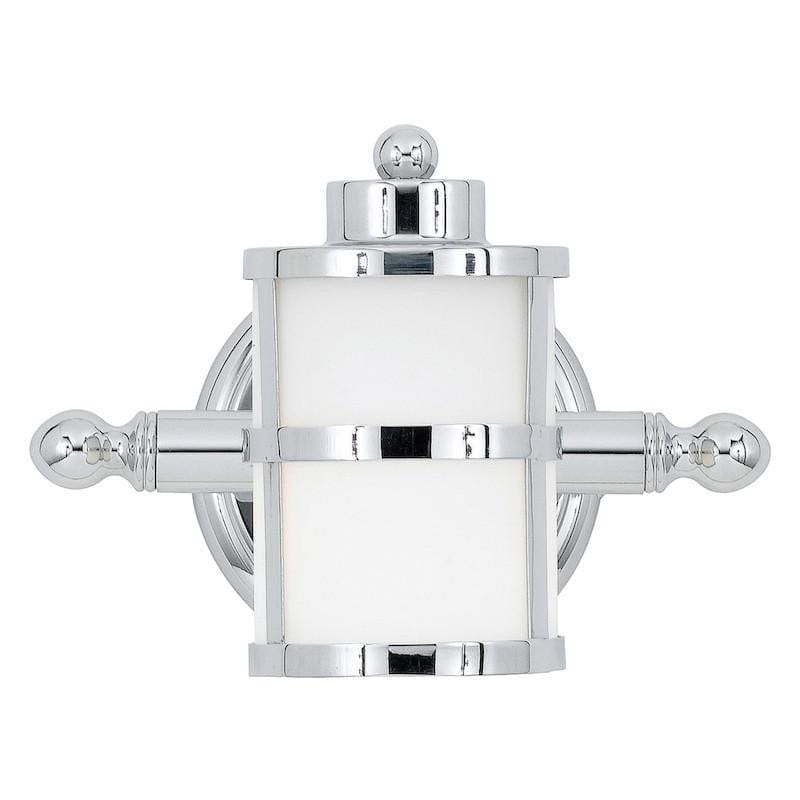 Traditional Bathroom Lights - Quoizel Tranquil Bay Polished Chrome Finish Bathroom Wall Light QZ/TRANQUILBAY1