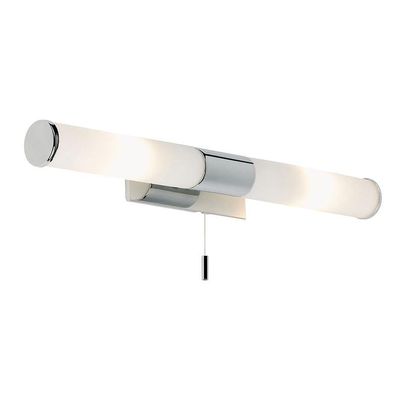 Traditional Bathroom Lights - Romford Chrome Finish And Matt Opal Glass Bathroom Wall Light EL-257-WB