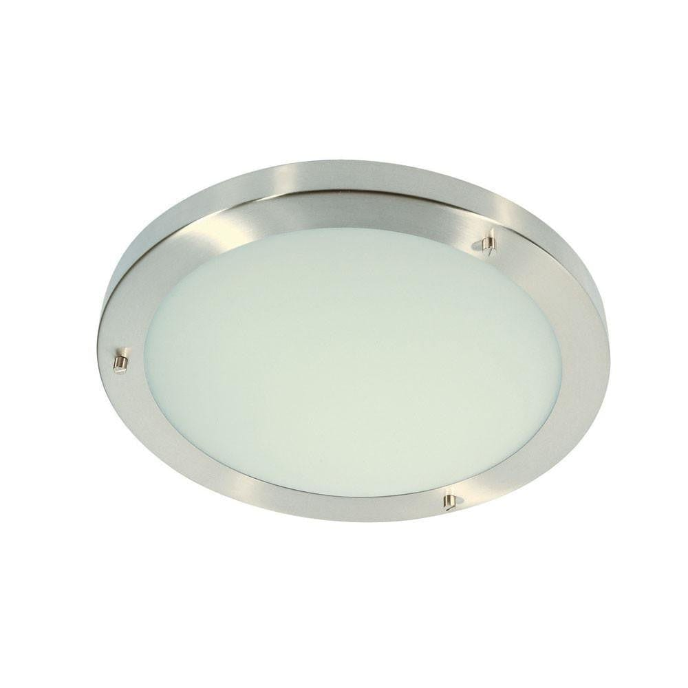 Traditional Bathroom Lights - Rondo Chrome Finish Large Flush Bathroom Ceiling Light RONDO/30 CH