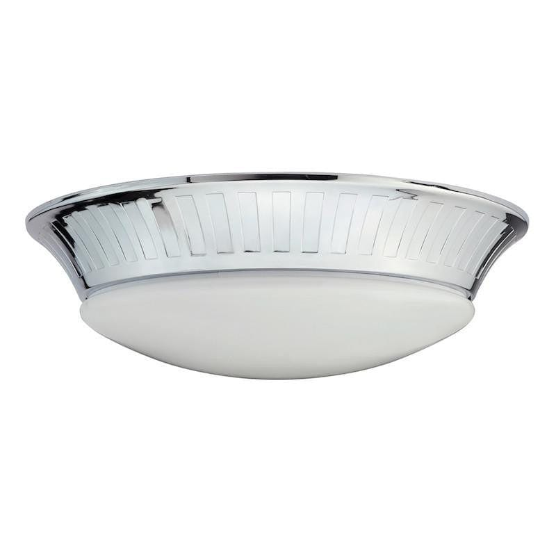 Traditional Bathroom Lights - Whitby Polished Chrome Finish Flush LED Bathroom Ceiling Light BATH/WHITBY/F