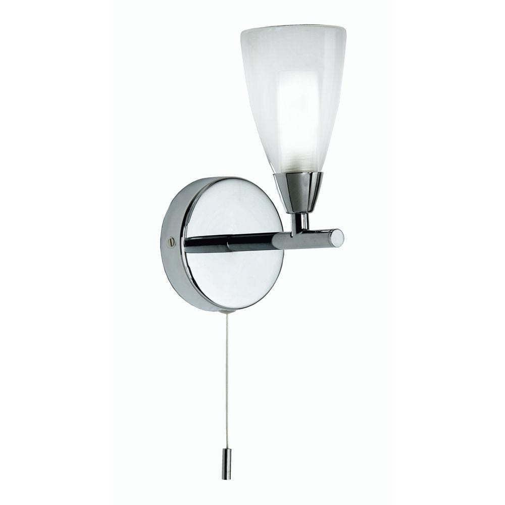 Traditional Bathroom Lights - Zahira Chrome Finish Bathroom Wall Light 8455/1 CH