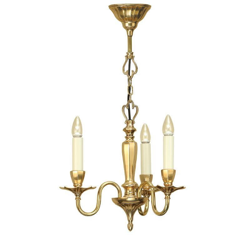 Traditional Ceiling Pendant Lights - Asquith Solid Brass 3 Light Chandelier ABY1002P3
