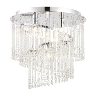 Traditional Ceiling Pendant Lights - Camille Clear Glass & Chrome Plate 4LT Pendant Ceiling Light 68698