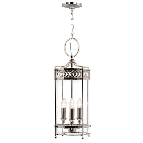 Traditional Ceiling Pendant Lights - Elstead Guildhall 3lt Chain Lantern Ceiling Light GH/P PN