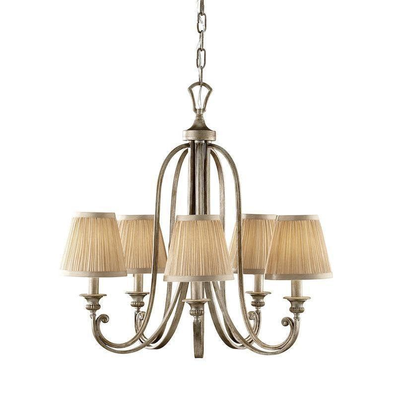 Traditional Ceiling Pendant Lights - Feiss Abbey 5lt Chandelier Ceiling Light FE/ABBEY5