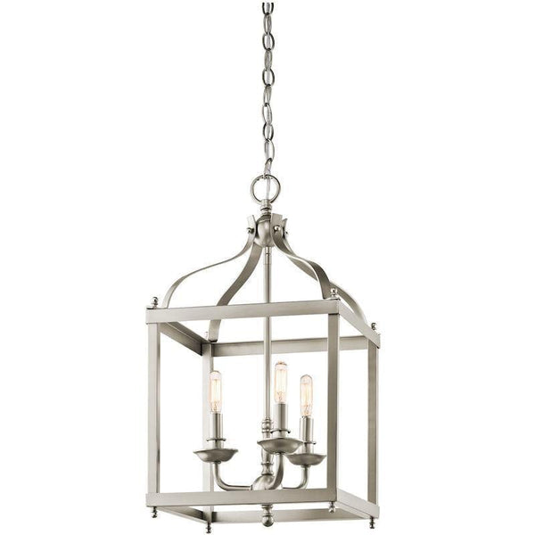 Traditional Ceiling Pendant Lights - Feiss Larkin Medium Pendant Ceiling Light KL/LARKIN/P/M NI