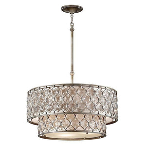 Traditional Ceiling Pendant Lights - Feiss Lucia Two-Tier Pendant Chadelier Ceiling Light FE/LUCIA/P/E 2TR