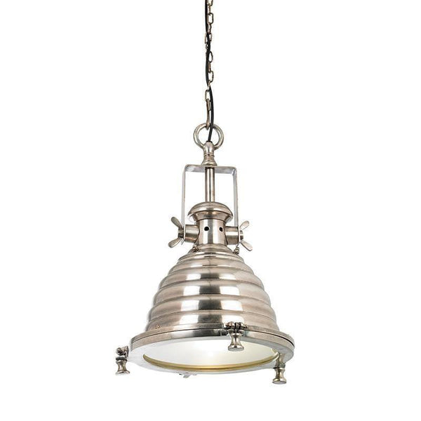 Traditional Ceiling Pendant Lights - Gaskell Tarnished Silver Finish Pendant Ceiling Light EH-GASKELL