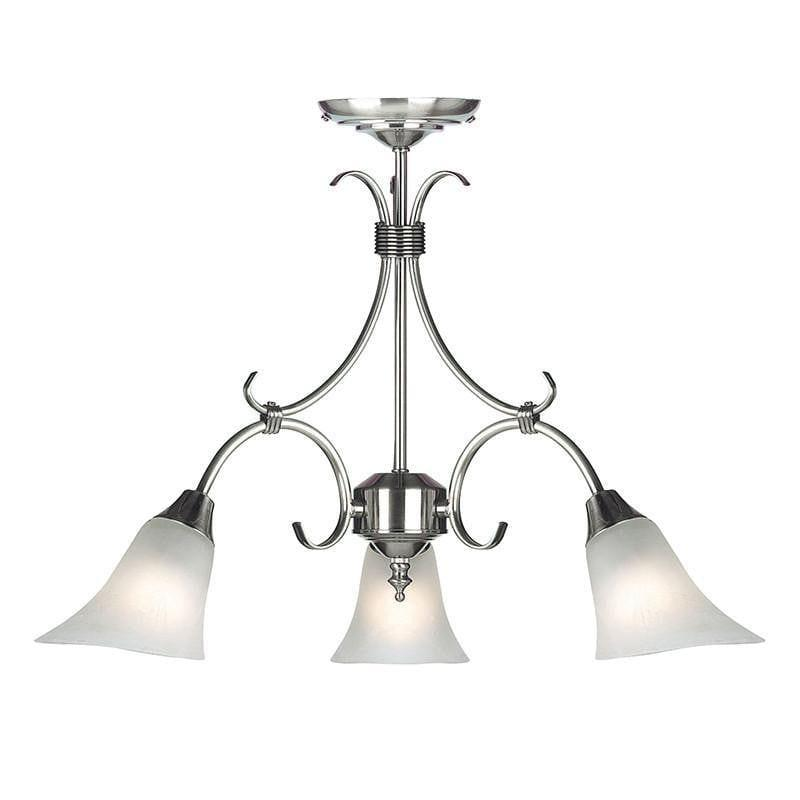 Traditional Ceiling Pendant Lights - Hardwick Antique Silver Finish 3 Light Pendant Ceiling Light 144-3AS
