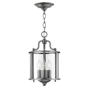 Traditional Ceiling Pendant Lights - Hinkley Gentry Pewter Small Pendant Ceiling Light HK/GENTRY/P/S PW