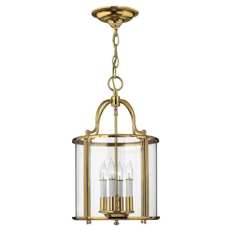 Traditional Ceiling Pendant Lights - Hinkley Gentry Polished Brass Medium Pendant Ceiling Light HK/GENTRY/P/M PB