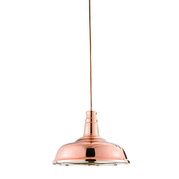 Traditional Ceiling Pendant Lights - Jackman Copper Finish Pendant Ceiling Light 61705