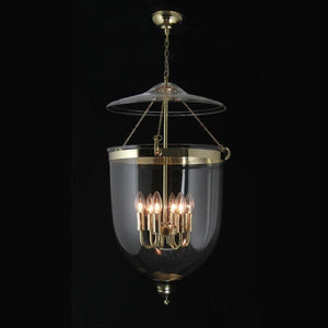 Traditional Ceiling Pendant Lights - Kansa Polished Brass Georgian Lantern GEO432